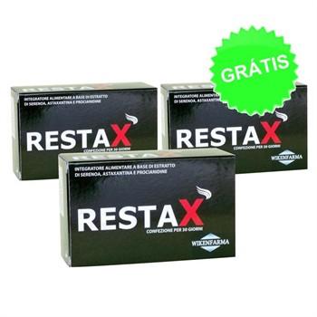 LINEA WIKENFARMA-RESTAX 2 CONFEZIONI+1 OMAGGIO: integratore a base di Serenoa Repens ed antiossidanti-30 perle+30 cps