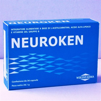 LINEA WIKENFARMA-NEUROX-NEUROKEN 2 CONF+1 OMAGGIO: Acido Alfa Lipoico ed L-Acetilcarnitina per le neuropatie periferiche 36cps
