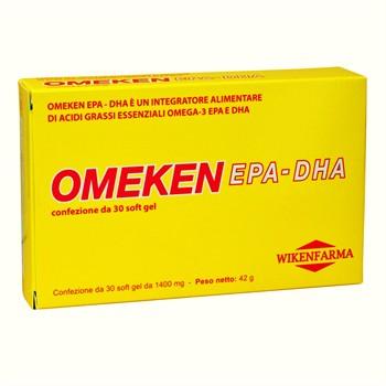 LINEA WIKENFARMA-OMEKEN EPA-DHA: acidi grassi Omega3 in perle da 1400 mg