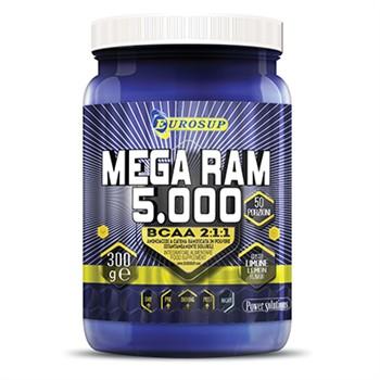 Ramificati-BCAA Polvere-MEGA RAM 5000 CONCENTRATO 300 g: aminoacidi ramificati polvere