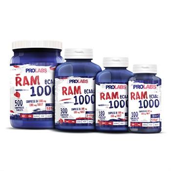 Aminoacidi in Compresse-2 conf. AMINOACIDI RAMIFICATI (BCAA) RAM1000: 1000 compresse