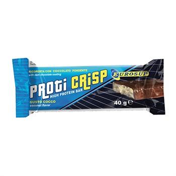 Proteiche al 25%-Proti Crisp barrette proteiche ricoperte con cioccolato fondente